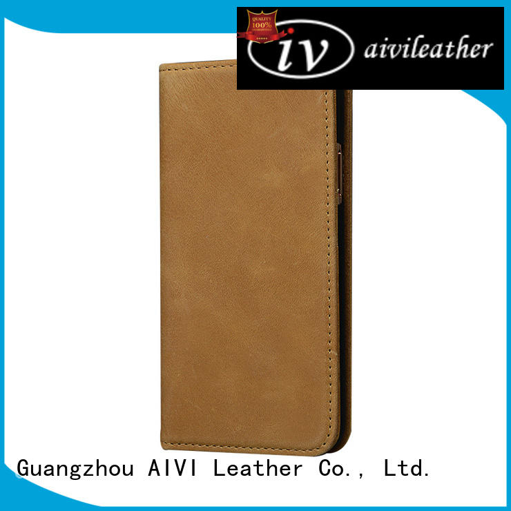 card iphone leather flip case supply for iphone 7/7 plus AIVI