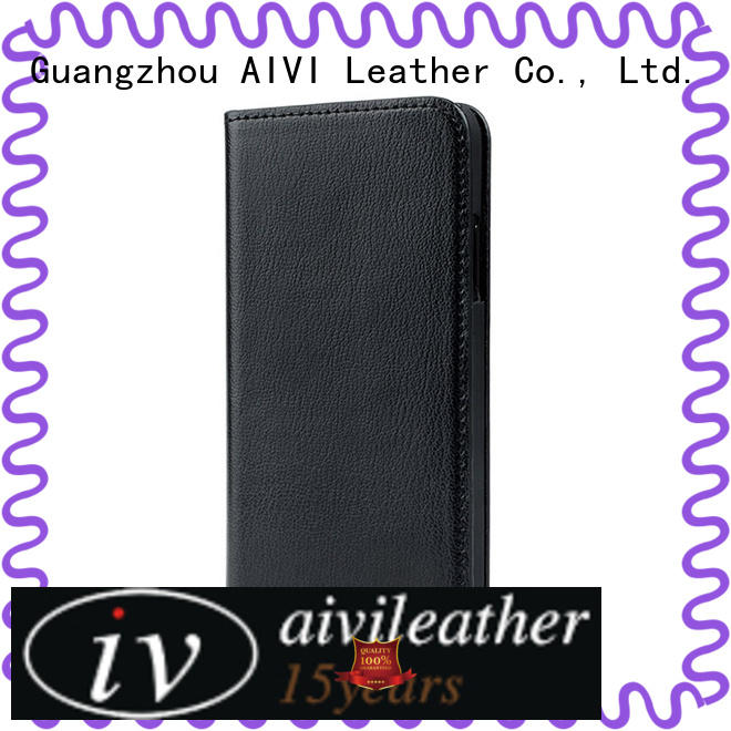 leather wallet case phone for iphone XS AIVI