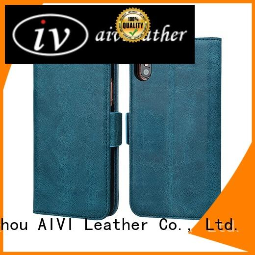 AIVI protective best iphone leather wallet case top for iphone XS Max
