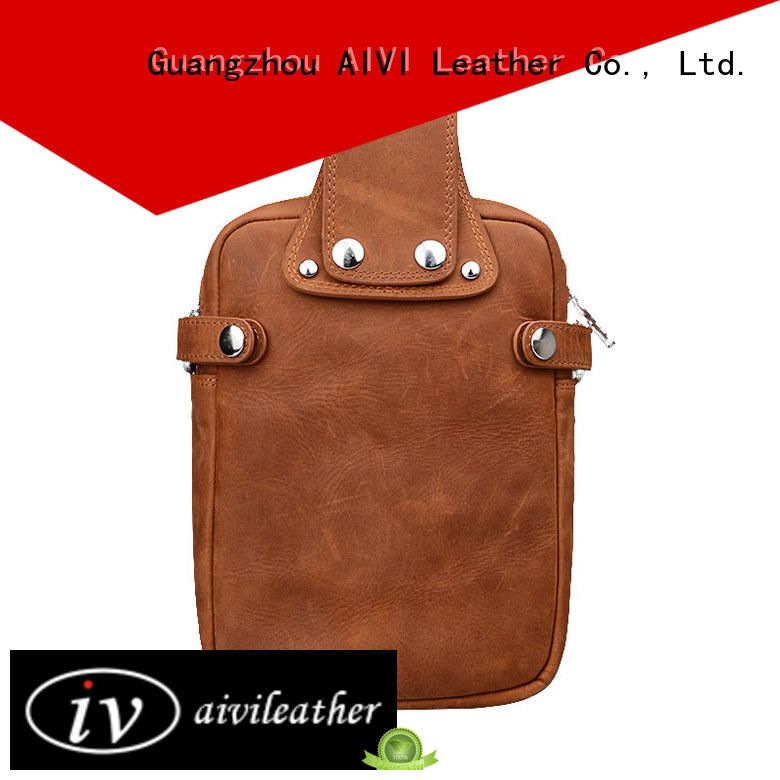 AIVI custom leather wallets for sale for business