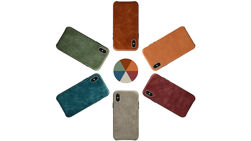 AIVI brown green leather iphone case protector for iphone XS Max-6