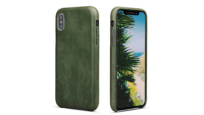 AIVI brown green leather iphone case protector for iphone XS Max-7