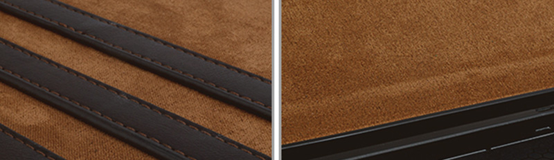 Factory wholesale lowest price Magnetic buckle Genuine Leather Brown Leather For Ipad Case-9