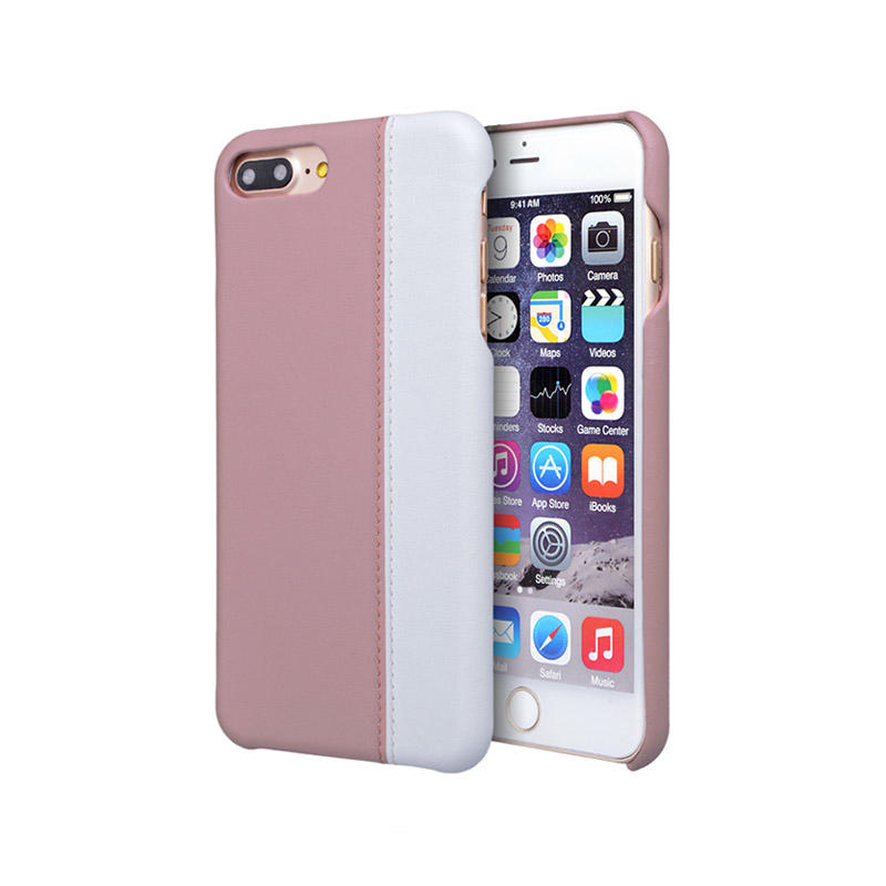 New design splicing mobile back cover genuine leather custom For Iphone 7 Plus Leather Case