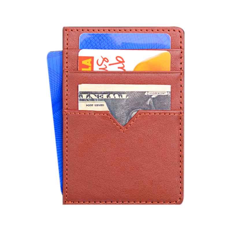 slim leather credit card case manufacturer for iphone XR-3