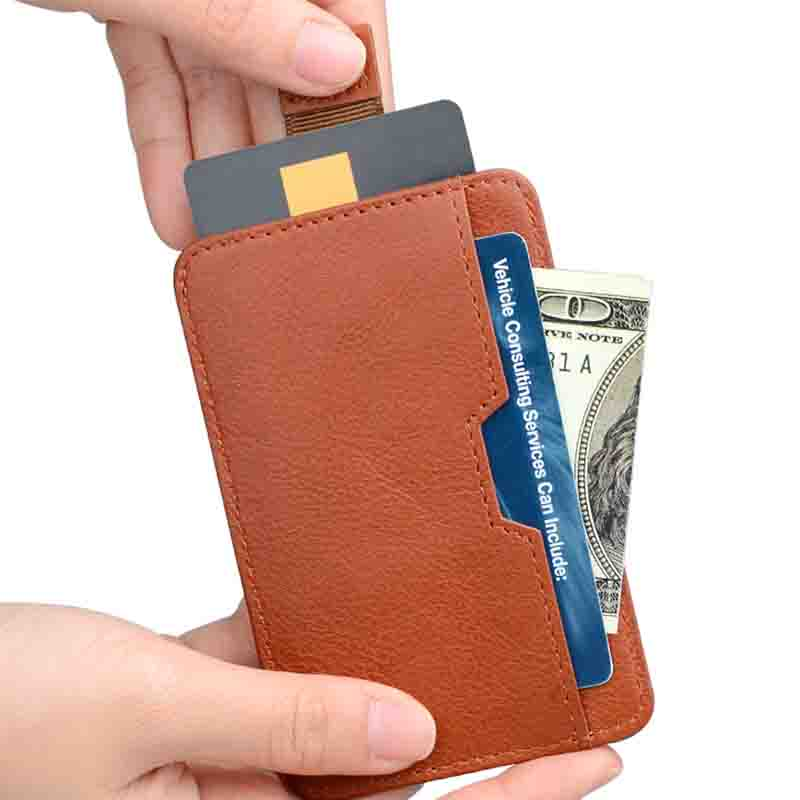 personalized leather card case wallet supply for ipone 6/6plus-2