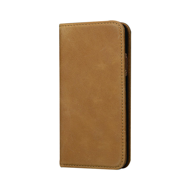 For Apple Brown Leather Case Fashion Wholesale Design Wallet Phone Case