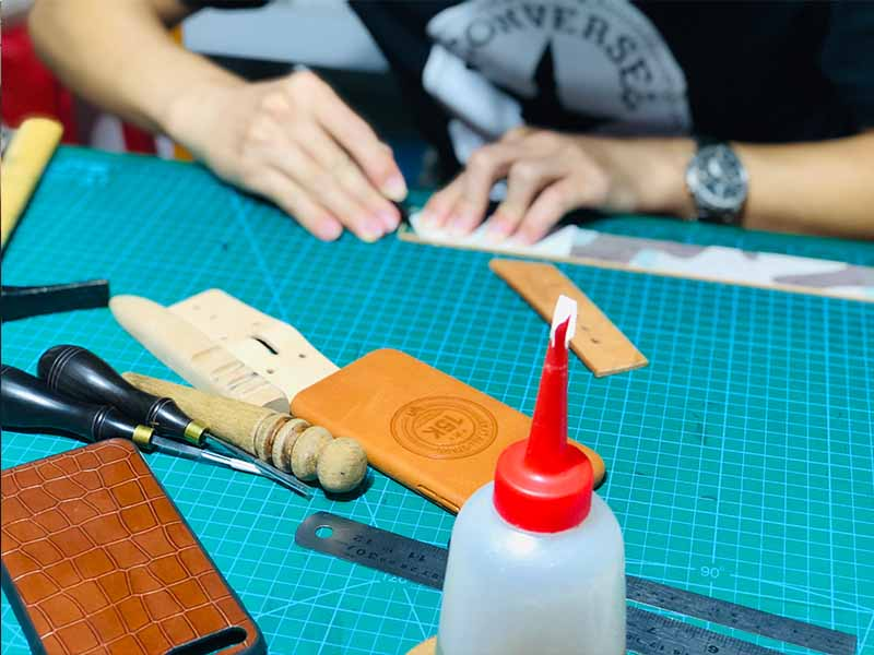Custom Leather phone Case Pure handmade for HUAWEI P30-11