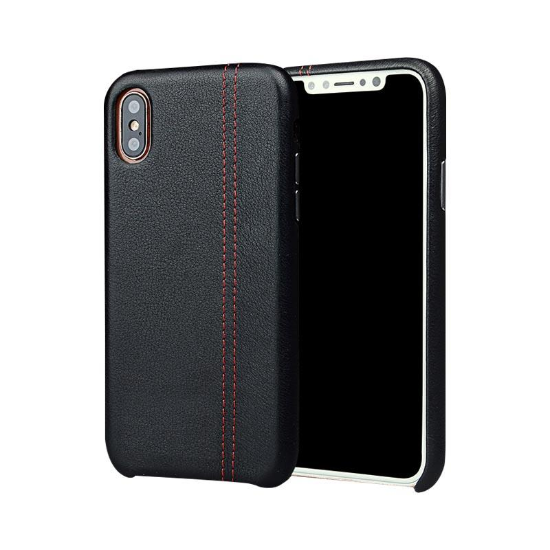 Leather Mobile Phone Cases First Layer Cow Genuine Leather  for Apple iPhone X