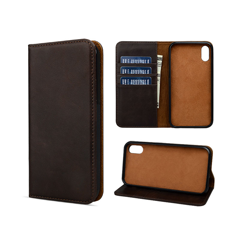 personalized mens leather phone case for iphone 8 / 8plus-3