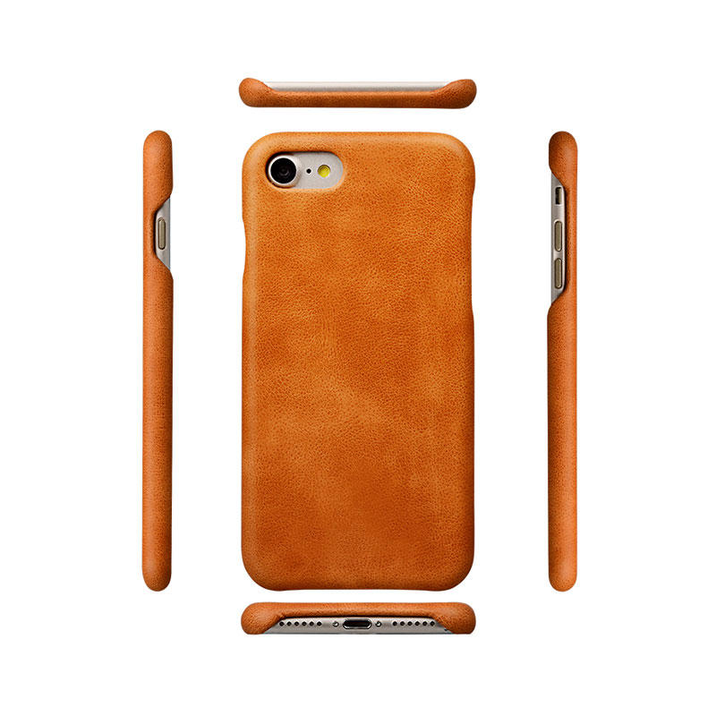 Protective Ultra thin Genuine Leather Phone Case For Iphone 8 leather cases