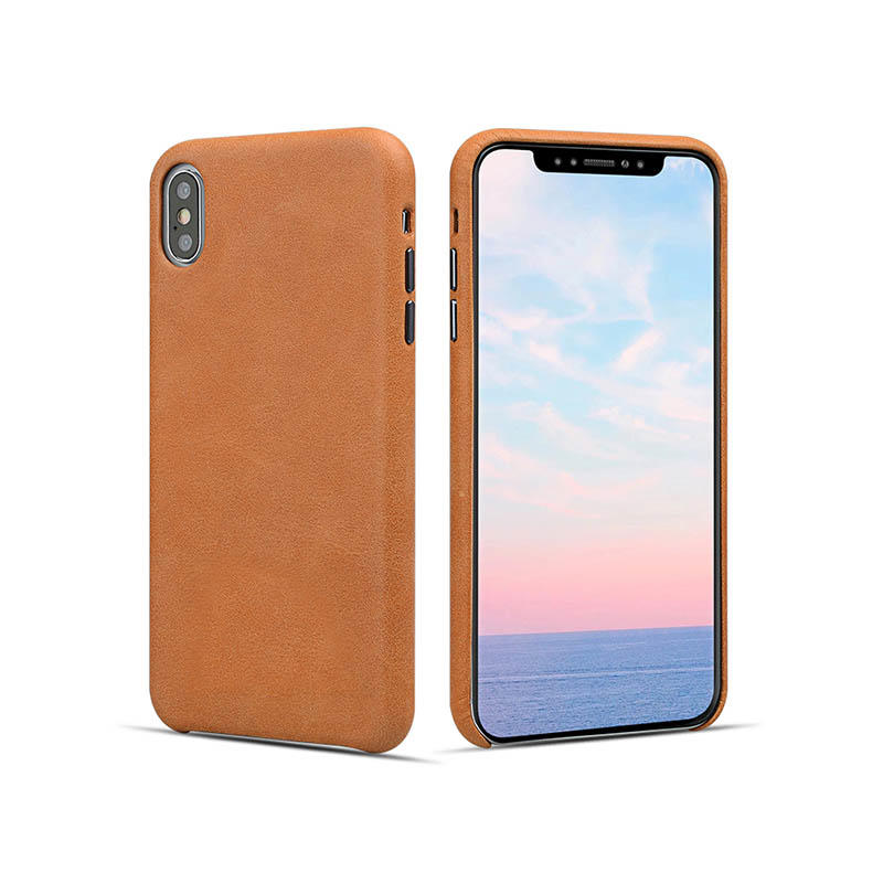 High quality Real Leather Mobile Phone Case super thin For iphoneX/XS