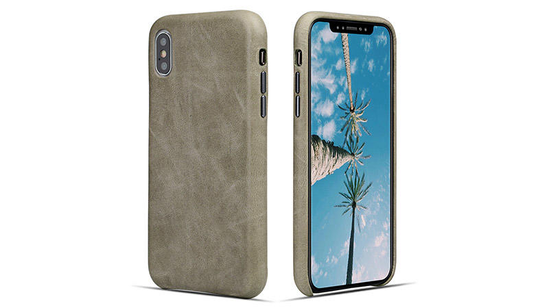 magnetic custom made leather iphone cases blue for iPhone X/XS for iphone XR