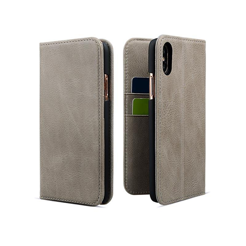 Custom Made Leather Iphone Cases With Card Slot For iPhone XS