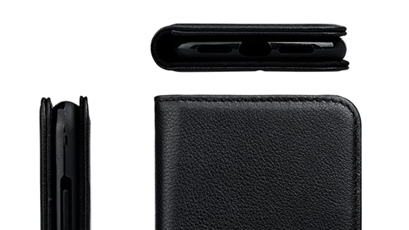 durable black leather iphone case for iphone XS-4