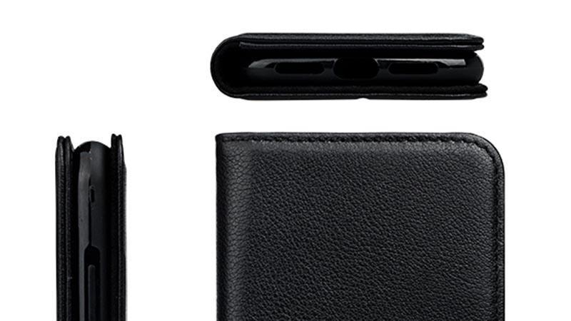 durable black leather iphone case for iphone XS