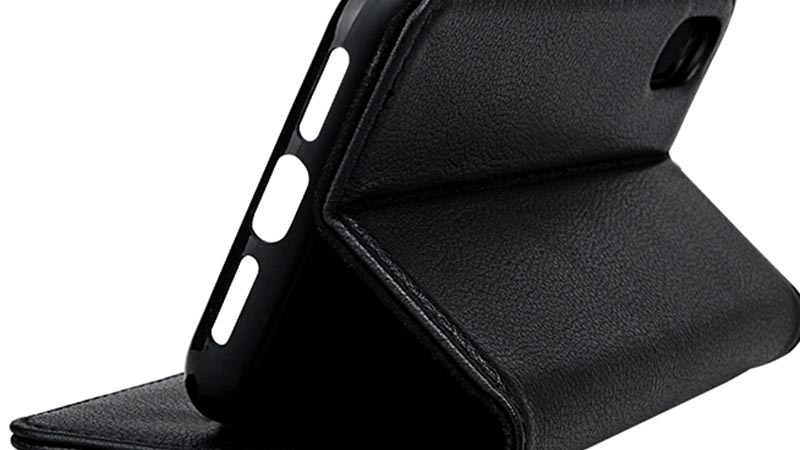 durable black leather iphone case for iphone XS-6