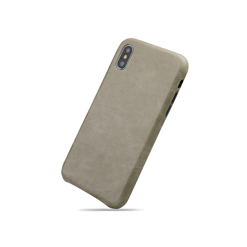 Luxury Fully Wrapped Genuine Leather Cover for Iphone XS Back Case