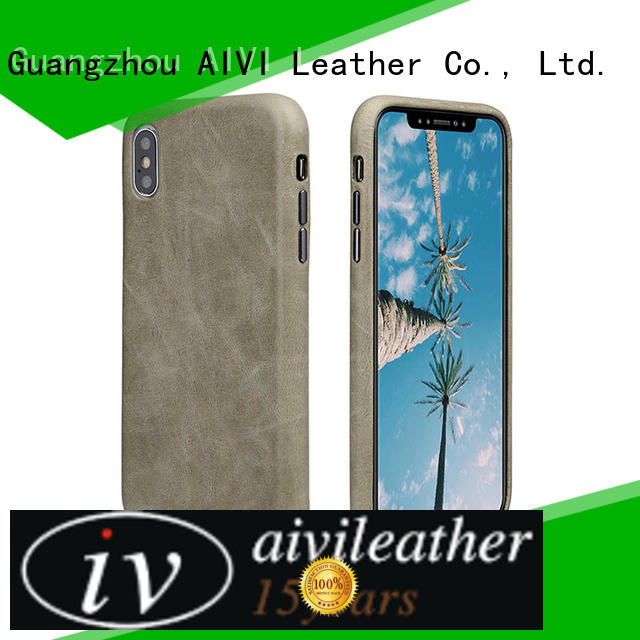 AIVI shell apple tan leather case for iPhone X/XS iphone 8 / 8plus