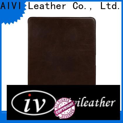 new arrive black leather ipad case manufacturer for laptop