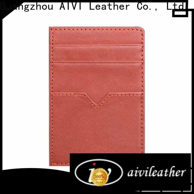 durable leather card holder wallet mens manufacturer for ipone 6/6plus