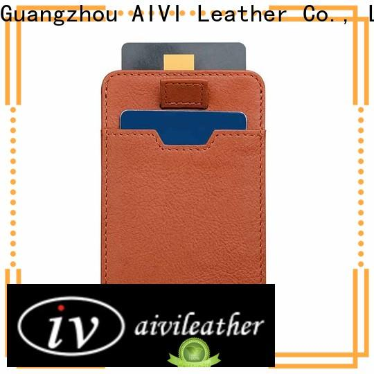 personalized leather card case wallet supply for ipone 6/6plus