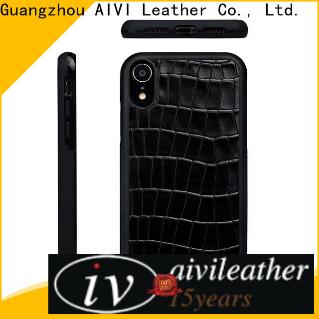 personalized mens leather phone case online for iphone XR