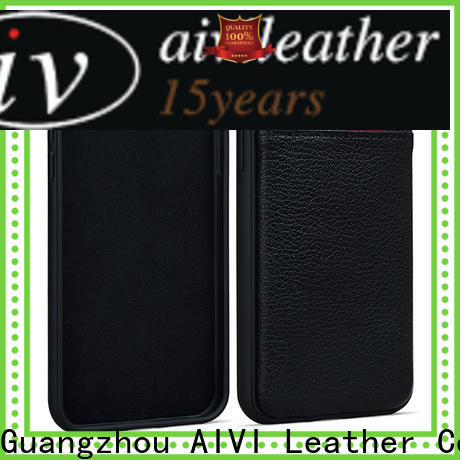 AIVI mobile slim leather iphone case factory for iphone XR