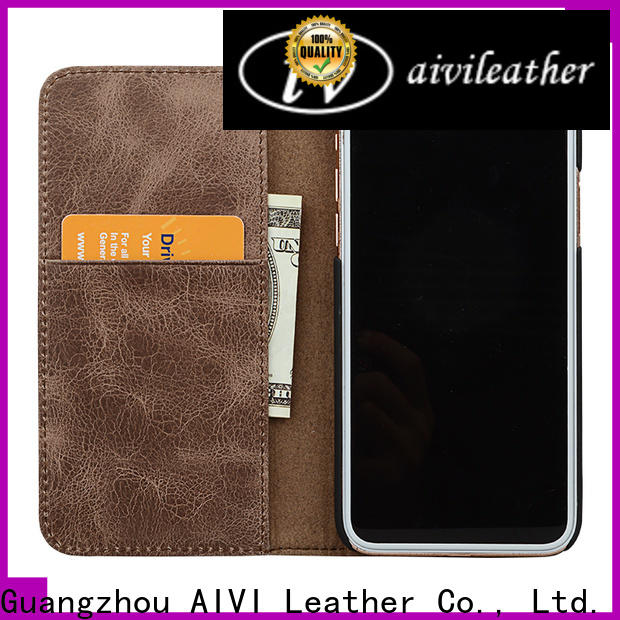 AIVI apple leather iphone case and wallet manufacturer for iphone XS