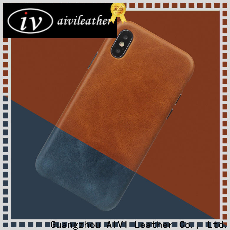 durable personalised leather phone case for iphone X