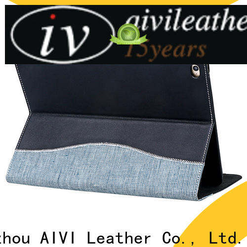 beautiful black leather ipad case factory for computer