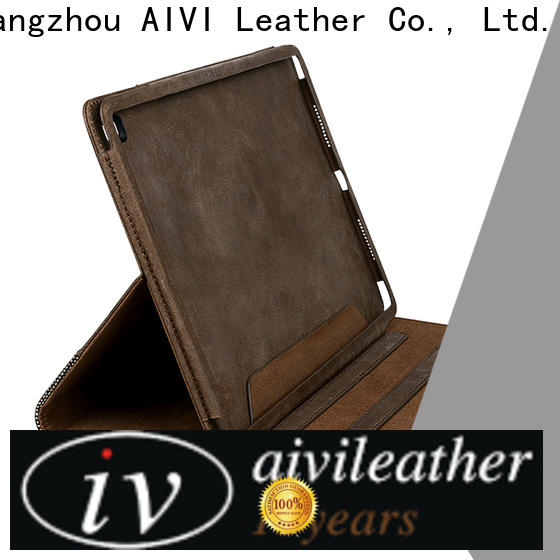 AIVI fashion real leather ipad case factory for laptop
