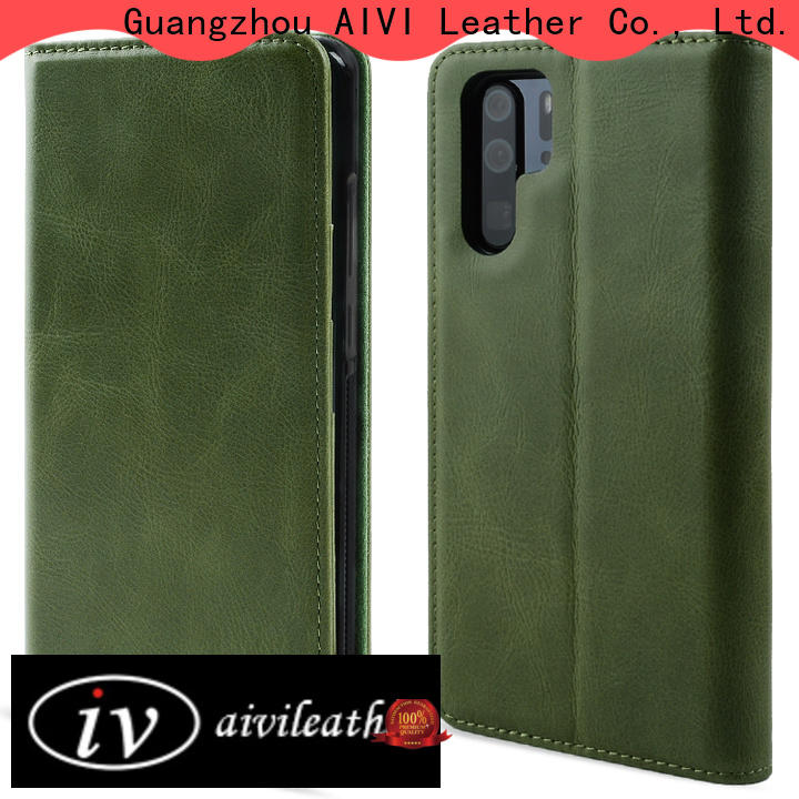 AIVI leather phone cases manufacturer for HUAWEI P30
