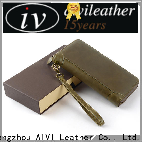 AIVI unisex leather card holder wallet mens online for ipone 6/6plus