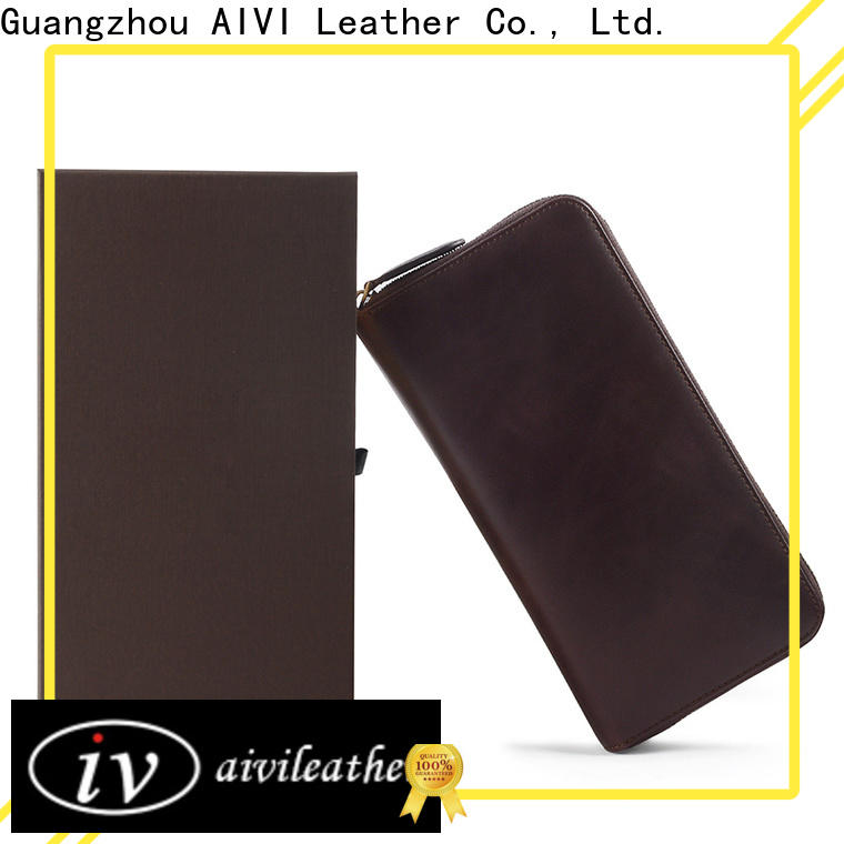 AIVI reliable leather card case wallet factory for iphone XS