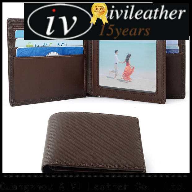 AIVI custom leather wallets easy to carry for business