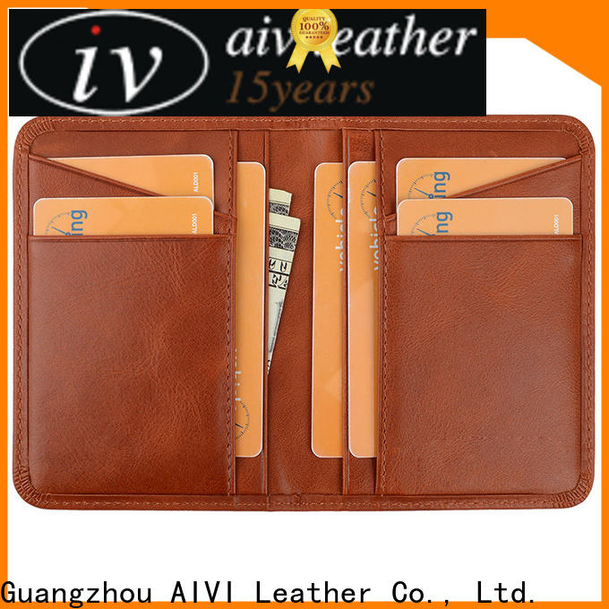 AIVI reliable leather credit card wallet supply for phone XS Max