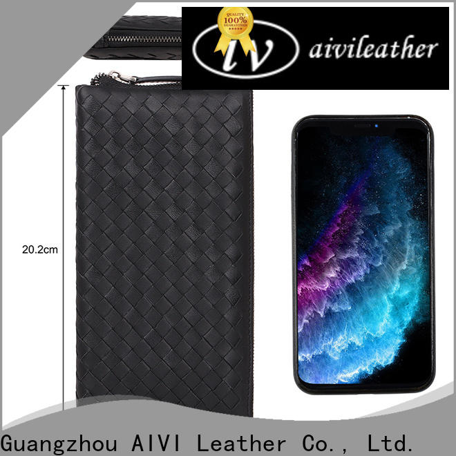 customized leather card holder wallet for sale for iphone X