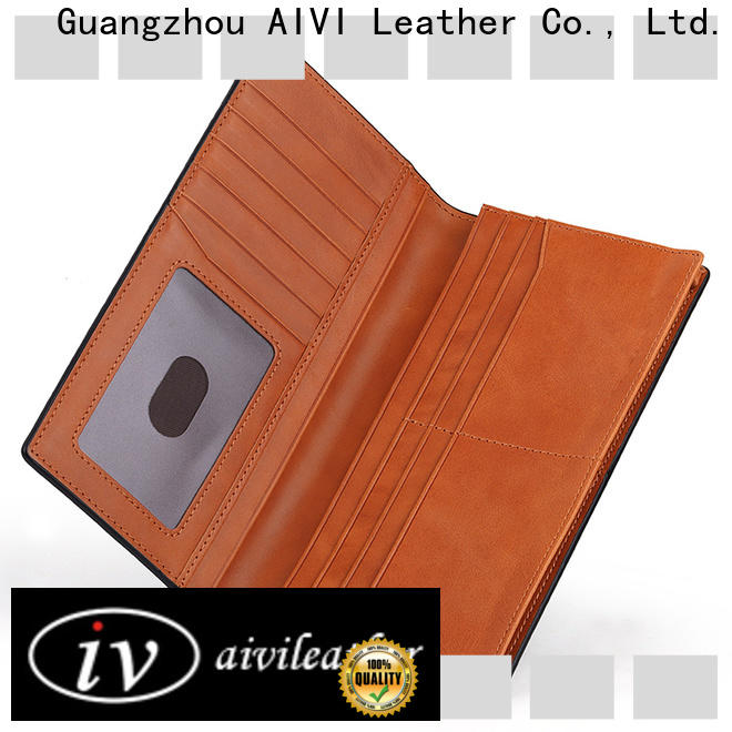 AIVI leather card holder wallet manufacturer for iphone XR