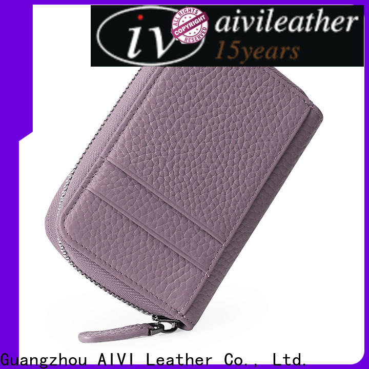 AIVI fashion leather card holder wallet mens manufacturer for iphone XS