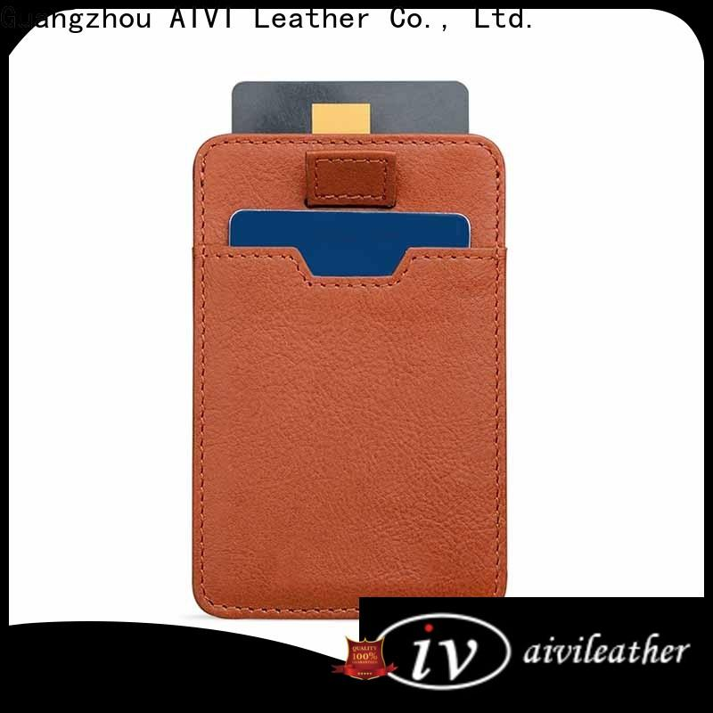 AIVI slim mens leather wallet with coin pocket manufacturer for iphone 8 / 8plus