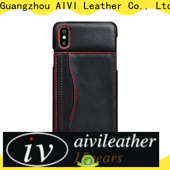 AIVI customized slim leather iphone case online for iphone XS