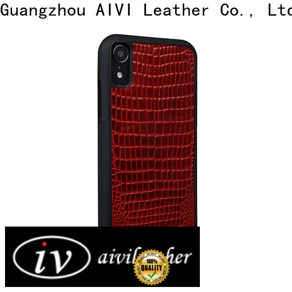 AIVI magnetic personalized leather iphone case for iphone XR