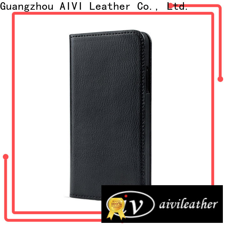AIVI magnetic custom leather iphone case protector for iphone XS