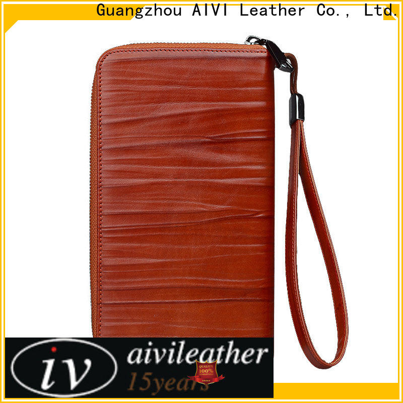 convenient leather card holder wallet mens factory for ipone 6/6plus