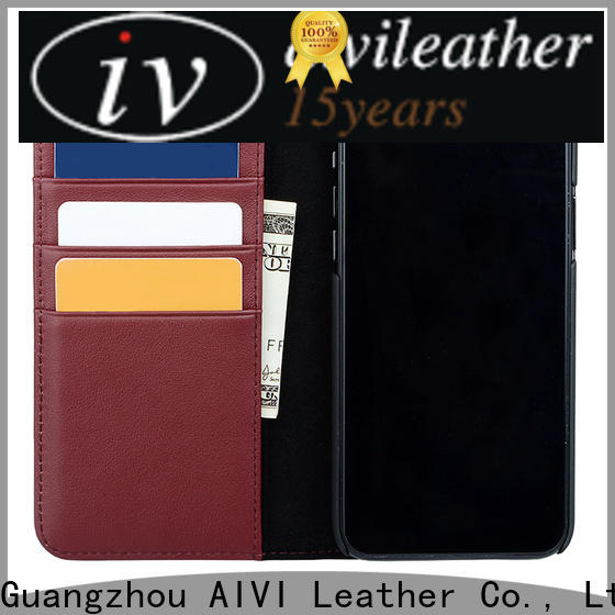 convenient luxury leather phone cases online for iphone XS Max