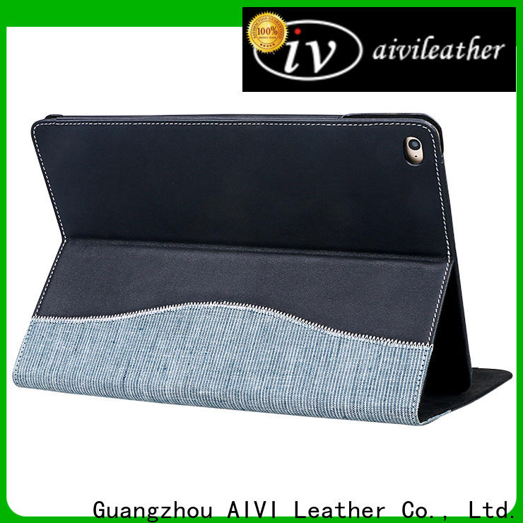 AIVI convenient brown leather ipad case supply for computer