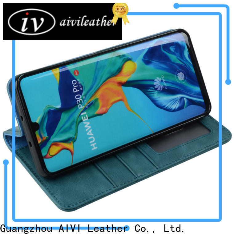 AIVI leather phone cases factory for HUAWEI P30