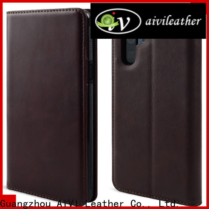 AIVI leather phone cases manufacturer for Huwei