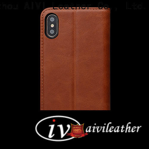 AIVI apple tan leather case supply for iphone 7/7 plus